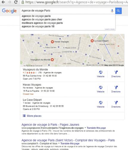 agence voyage paris