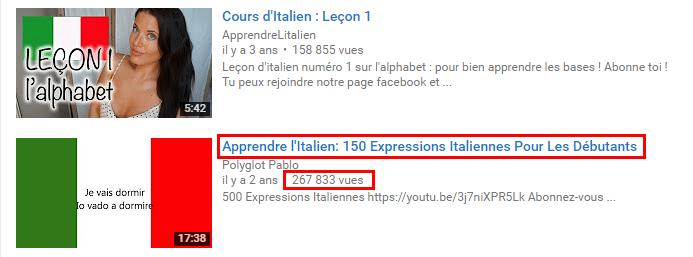 je vais vous parler en italien