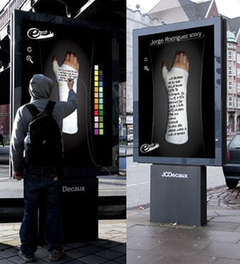 Plus de 100 pubs de Street Marketing créatives à prendre en exemple ! 232