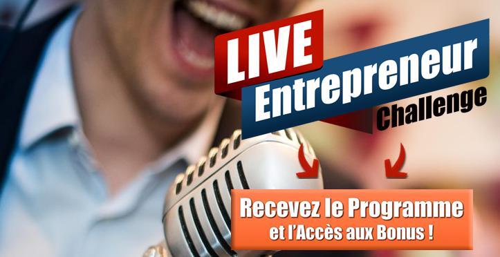 RDV le 13 Mai 2017 pour le Live Entrepreneur Challenge : 15h de formation gratuite ! 1