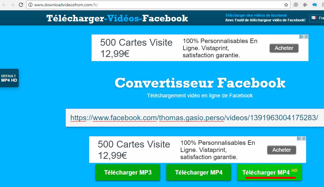 telecharger video facebook en ligne sans logiciel