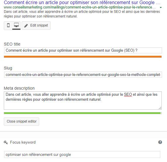 Célèbre Comment écrire un article pour optimiser son référencement sur  IG46