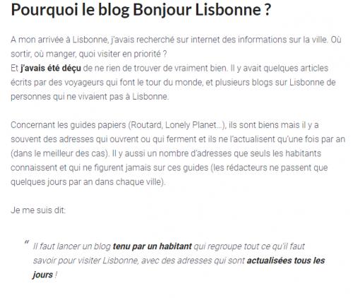 Cas Pratique : Voici comment Thibaut de bonjourlisbonne.fr gagne 3 000€/mois avec un blog sur le tourisme 4