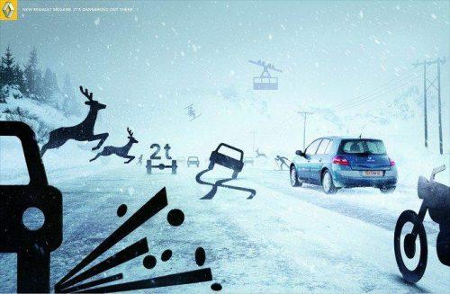 Bon courage aux Parisiens : les 80 publicités les plus créatives sur la Neige #neigeparis 61