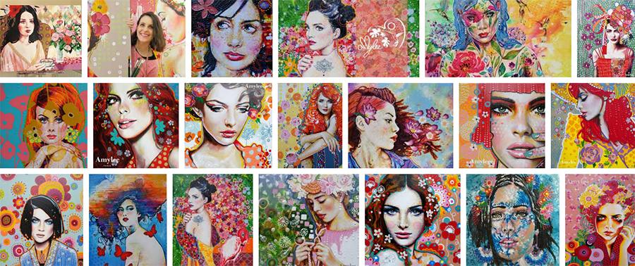 Tableau Amylee Paris Artiste Peintre