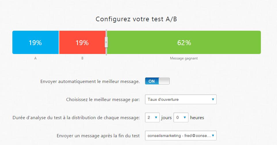 Doublez le taux d'ouverture de vos emails : faites de l'AB testing en 2 minutes chrono ! 1