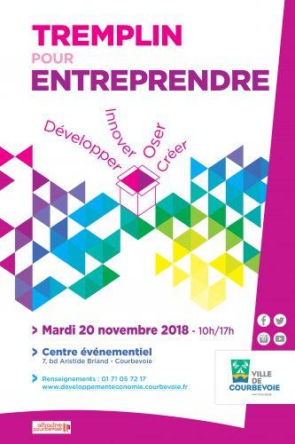Vous êtes créateur d'entreprise ? RDV le 20/11 au Tremplin pour entreprendre à Courbevoie ! 2