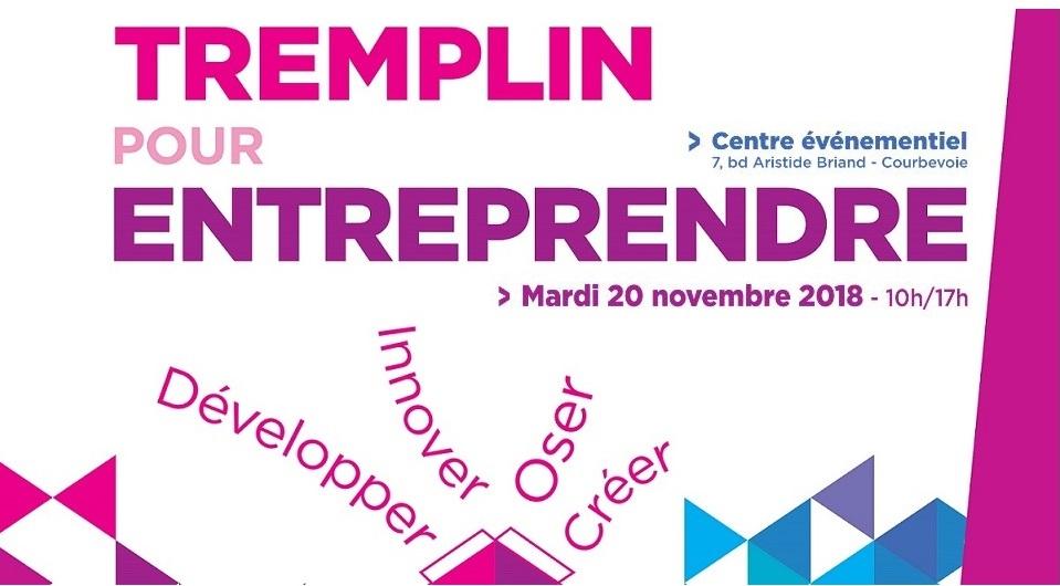 Vous êtes créateur d'entreprise ? RDV le 20/11 au Tremplin pour entreprendre à Courbevoie ! 1