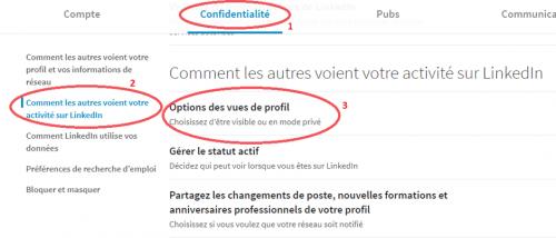 Comment regarder des profils Linkedin de façon anonyme ? 8
