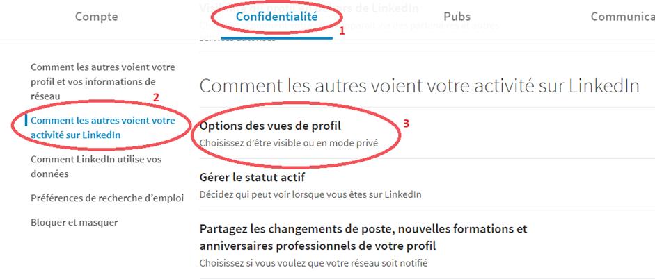 Comment regarder des profils Linkedin de façon anonyme ? 1