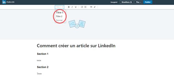 Comment publier un article sur Linkedin Articles ? 10