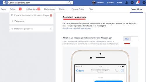 Comment créer un message automatique sur une page Facebook ? 4