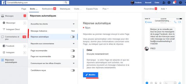 Comment créer un message automatique sur une page Facebook ? 6