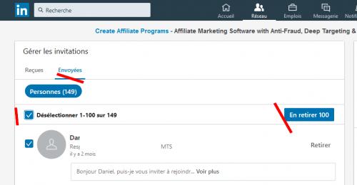 Comment continuer à avoir des contacts même si votre profil LinkedIn a atteint la limite des 30 000 contacts ? 4