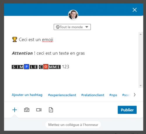 Utilisezles caractères spéciaux dans LinkedIn pour sortir du lot ! 5