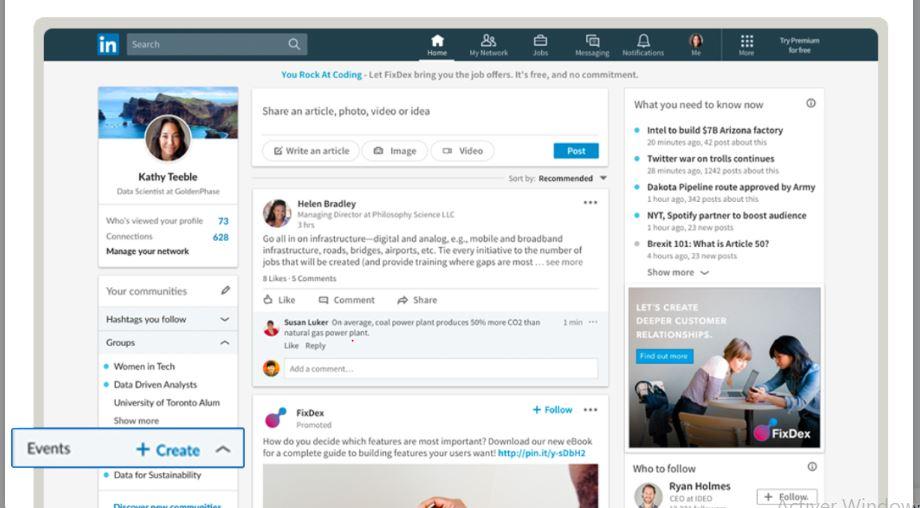 Comment participer ou créer un événement Linkedin ? 1