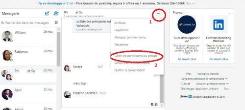 Comment envoyer un message groupé à une sélection de vos contacts LinkedIn ? - Messages Groupés sur Linkedin 4