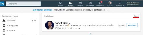 N'acceptez plus les demandes de connexion LinkedIn sans rien dire... Préparez un message d'accueil 3