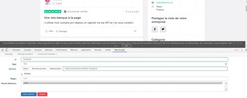 Comment faire du Web Scraping : cas pratique avec la récupération des avis clients sur Trustpilot avec webscraper.io 41