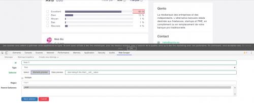 Comment faire du Web Scraping : cas pratique avec la récupération des avis clients sur Trustpilot avec webscraper.io 45