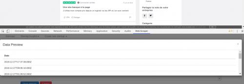 Comment faire du Web Scraping : cas pratique avec la récupération des avis clients sur Trustpilot avec webscraper.io 70