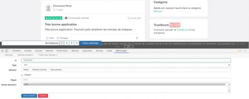 Comment faire du Web Scraping : cas pratique avec la récupération des avis clients sur Trustpilot avec webscraper.io 36