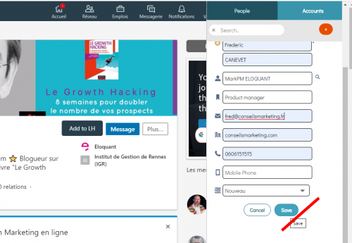 Comment synchroniser Linkedin et Salesforce ? 11