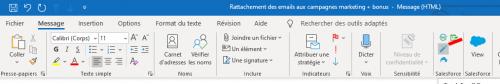 Comment rattacher un email à une campagne marketing Salesforce ou à toutes autres entités ? 8