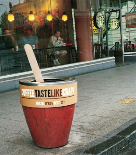 Plus de 100 pubs de Street Marketing créatives à prendre en exemple ! 67