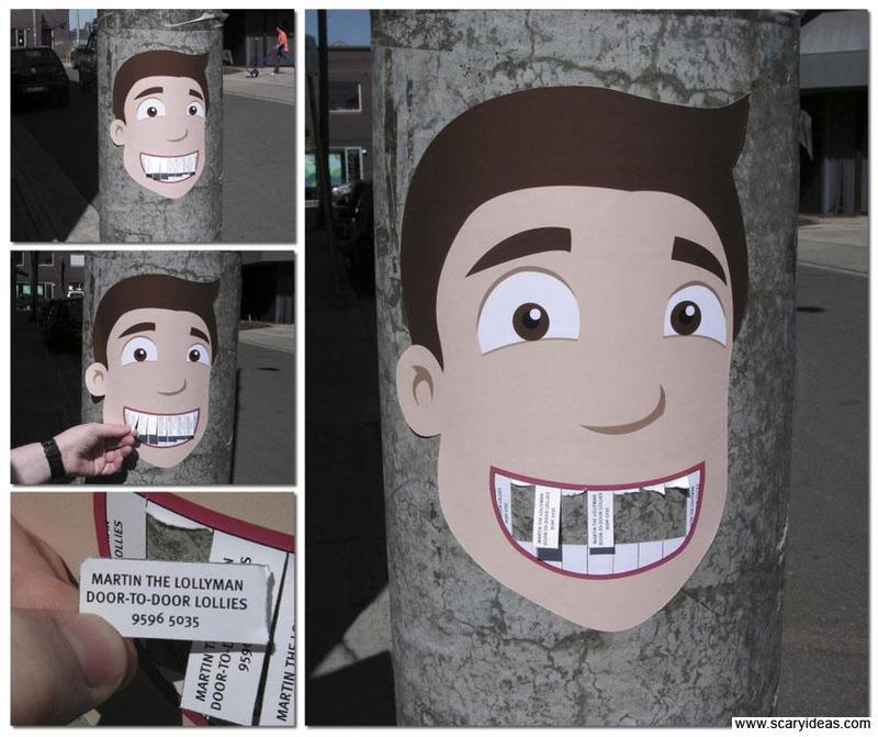 Plus de 100 pubs de Street Marketing créatives à prendre en exemple ! 34