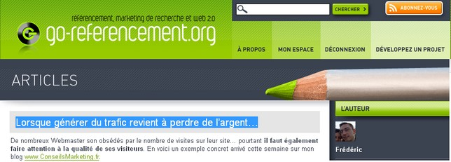 go referencement
