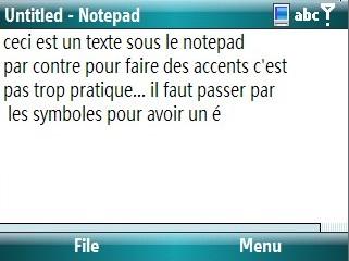 bloc note sous smartphone