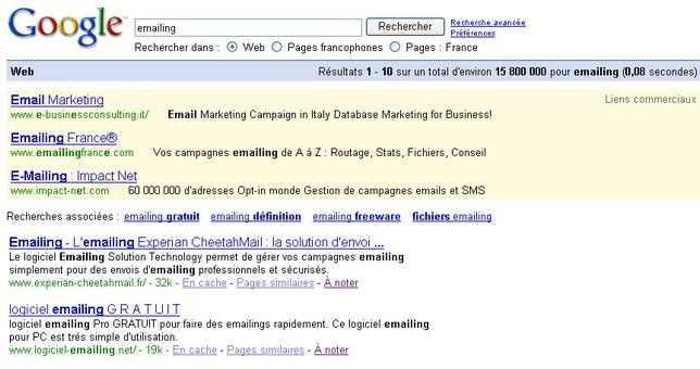 publicité emailing