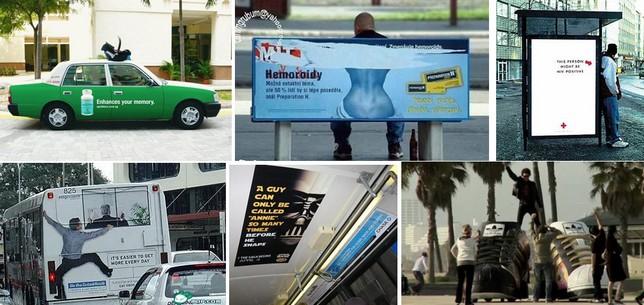 publicité mobilier urbain