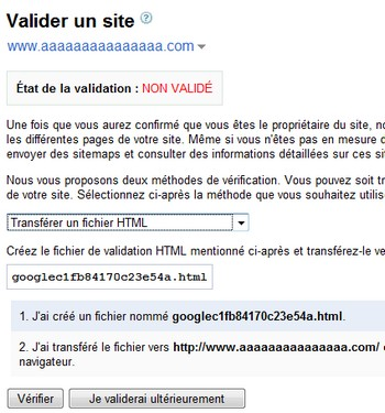 validation site