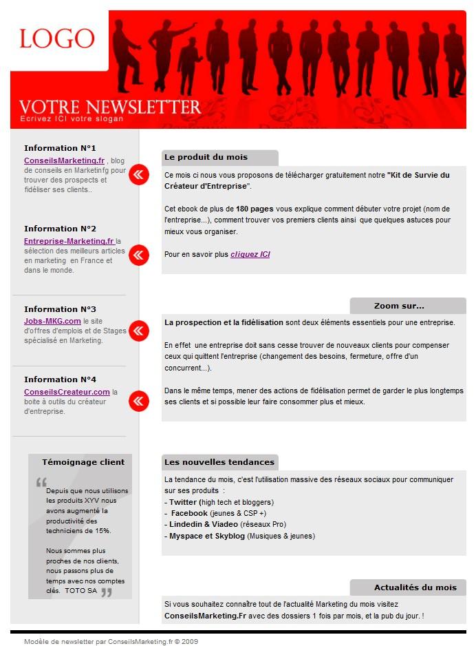 modèles newsletter