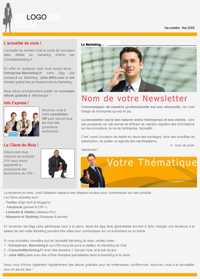 modèles newsletters gratuits
