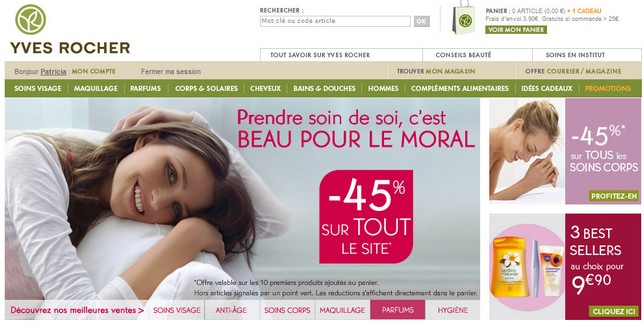 home page yves rocher