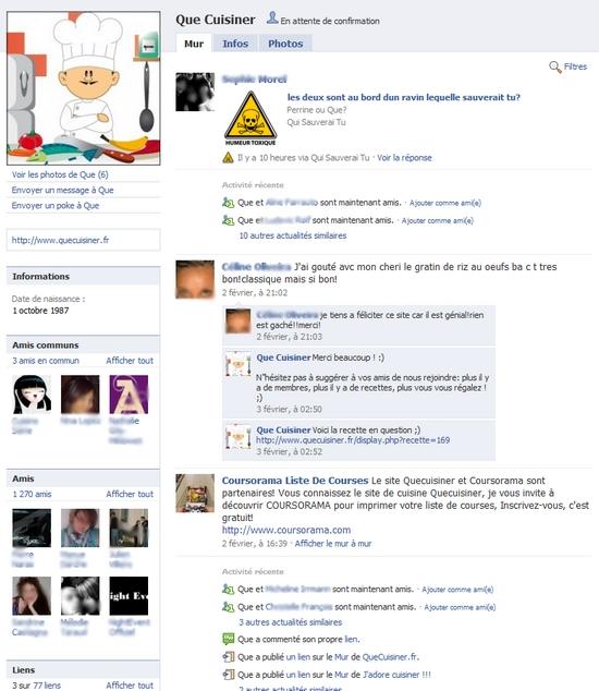 profil facebook pour business