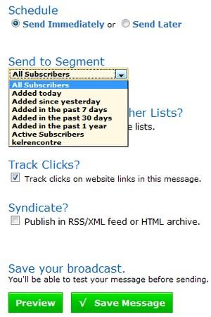 envoi emailing ponctuel