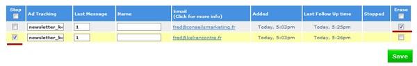 gsetion mailing liste