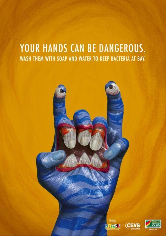 pub laver les mains