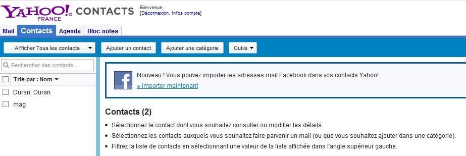 exporter les données de facebook