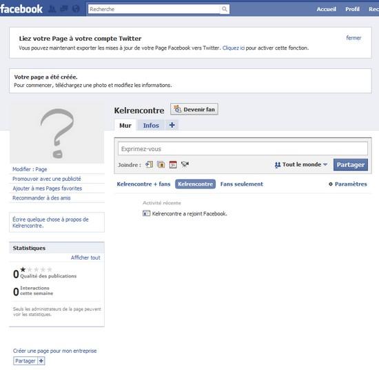 page fan vide