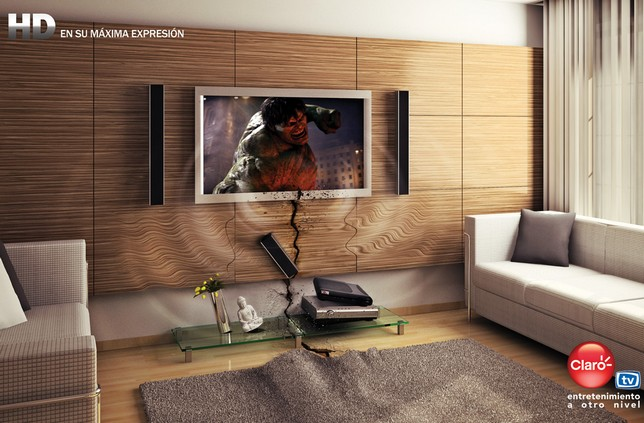 pub pour TV HD