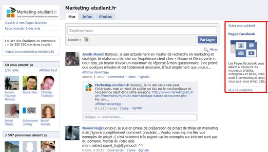 fan marketing etudiant