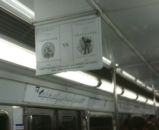 La pub du jour : La lutte sociale dans le métro [Grèves] 1