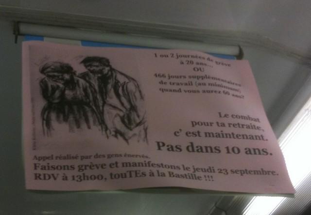 La pub du jour : La lutte sociale dans le métro [Grèves] 2