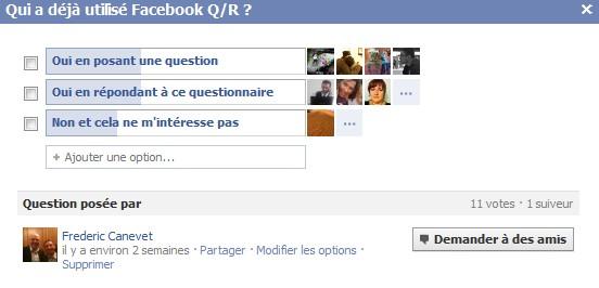 questions réponses facebook