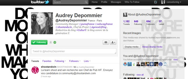 Le Metier de Community Manager : Audrey Depommier (Puma, Subway...) 2